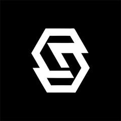 Fototapeta S, CG, Ce, CGS, CeS initials company logo obraz