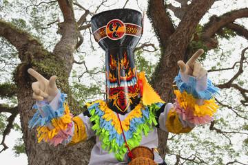 Loei, Thailand,Ghost Mask and Costume Colorful Festival Phi Ta Khon Festival,
