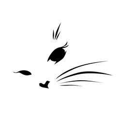 cat face logo vector illustration