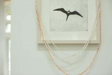 Print of bird silhouette in frame