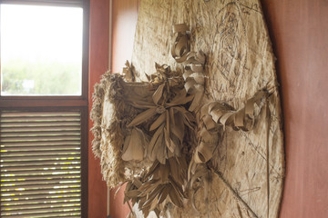 Wood and paper artwork