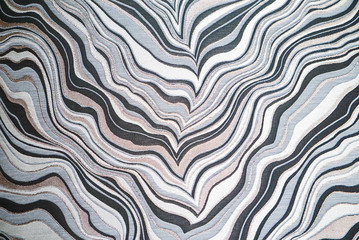 Modern Gray and White Marble Abstract Pattern