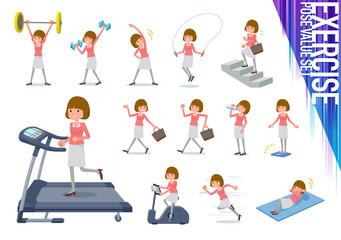 flat type Straight bangs hair women_exercise