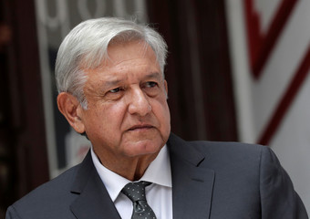 Mexico's incoming President Andres Manuel Lopez Obrador speaks to the media during a news conference in Mexico City