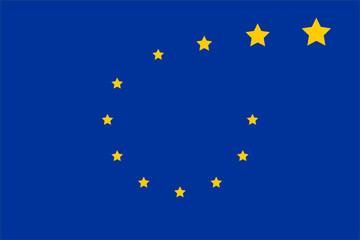 eu flag symbolizes grexit and brexit
