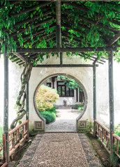 The Lingering Garden, a renowned classical Chinese garden, recognized as a UNESCO World Heritage Site at Suzhou, Jiangsu province, China