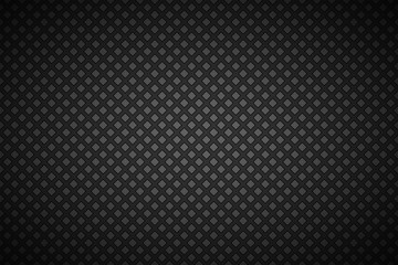 Black and grey abstract background with outline of squares, simple vector illustration