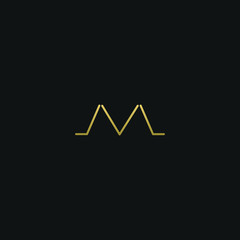 Modern creative elegant ML black and gold color initial based letter icon logo