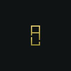 Creative modern elegant AL black and gold color initial based letter icon logo.
