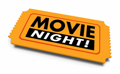 Movie Night Entertainment Ticket Date Going Out 3d Illustration