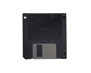 Floppy disk on a white background setting