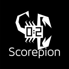 Score with scorpion logo icon vector