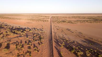 Door stickers Desert Sturt National Park, dingo fence stretches thousands of miles across Australia.