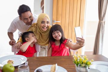 family love taking selfie