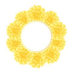 Yellow Dahlia Banner Wreath Style 2