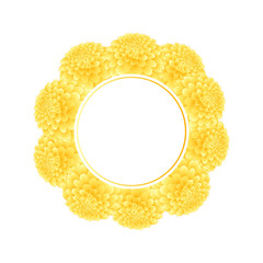 Yellow Dahlia Banner Wreath