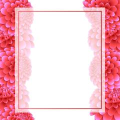Pink Dahlia Banner Card Border
