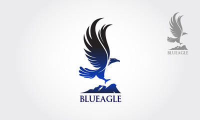 Vector Blue Eagle flew as a symbol or logo of the company