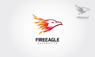Fire Eagle Vector Logo Template