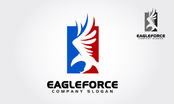 Eagle Force Vector Vector Logo Illustration.  American Eagle force logo templates, an excellent logo template.