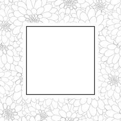 Dahlia Outline Banner Card Style 2