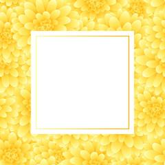 Yellow Dahlia Banner Card Style 2