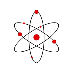 Isolated science atom icon