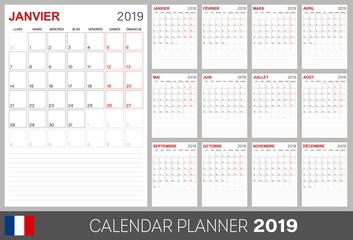 French calendar 2019
