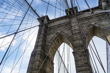 Brooklyn Bridge on a sunny day