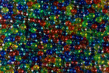Background of multicolored hydrogel balls
