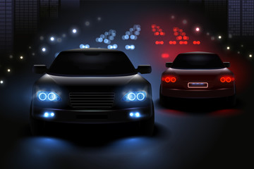 Car Led Lights Composition