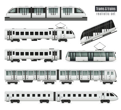 Trams And Trains Set
