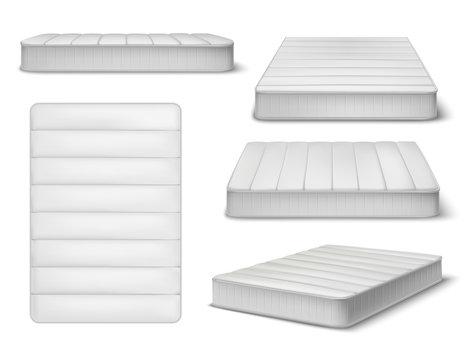 White Mattress Realistic Set