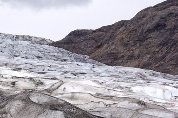 View to the ice front of the glacier Flaajokull