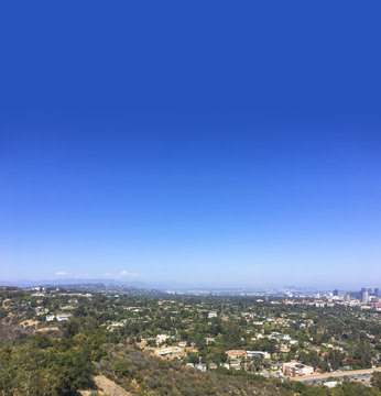 Hills overlooking 405 freeway and Westwood downtown.