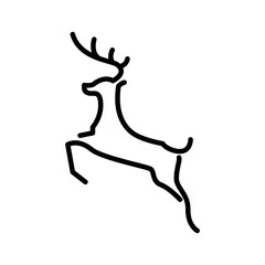 Deer logo line art vector