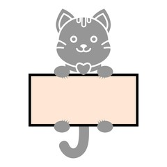 Frame with kitten, Cat icon