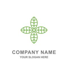 Leaf icon logo template