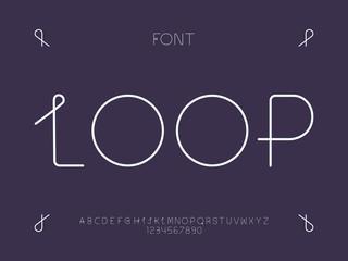 Loop font. Vector alphabet