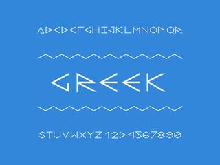 Greek font. Vector alphabet