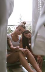 Vintage lesbian couple