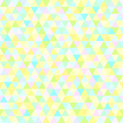 Seamless triangle pattern. Abstract geometric wallpaper of the surface. Cute tile background. Pastel colors. Print for polygraphy, posters, t-shirts and textiles. Beautiful texture. Doodle for design