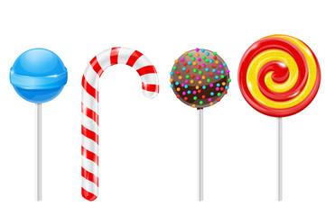 Lollipops. Set of different candies