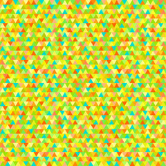 Seamless triangle pattern. Pretty colors. Abstract geometric wallpaper of the surface. Cute tile background. Print for polygraphy, posters, t-shirts and textiles. Bright texture. Doodle for design