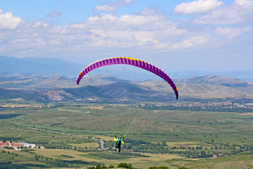 Paraglider in central Bulgaria