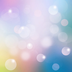 Colorful bokeh background blur