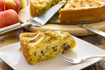 Tasty apple pie homemade
