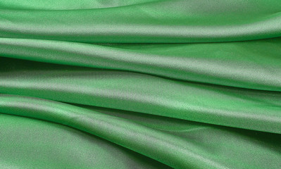 silk fabric green
