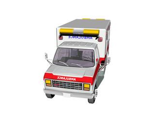Krankentransport mit rotem Streifen