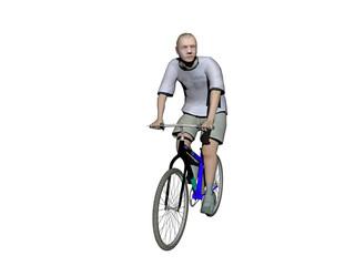 Junger Mann auf Fahrrad